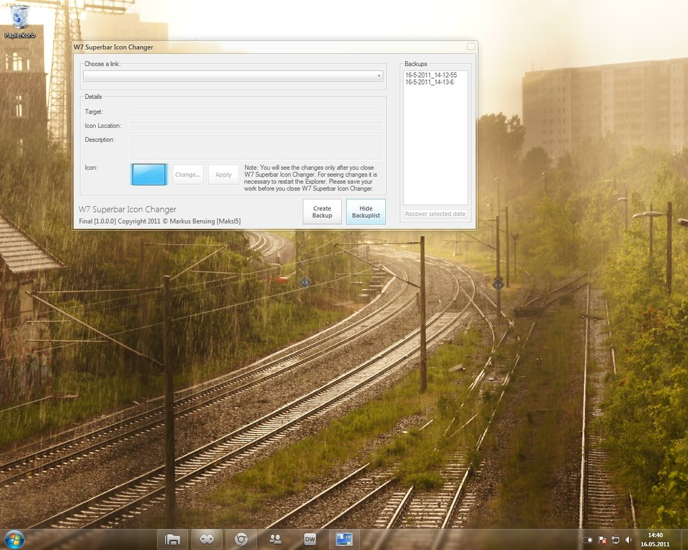 Icon Changer für die Windows 7 Taskleiste