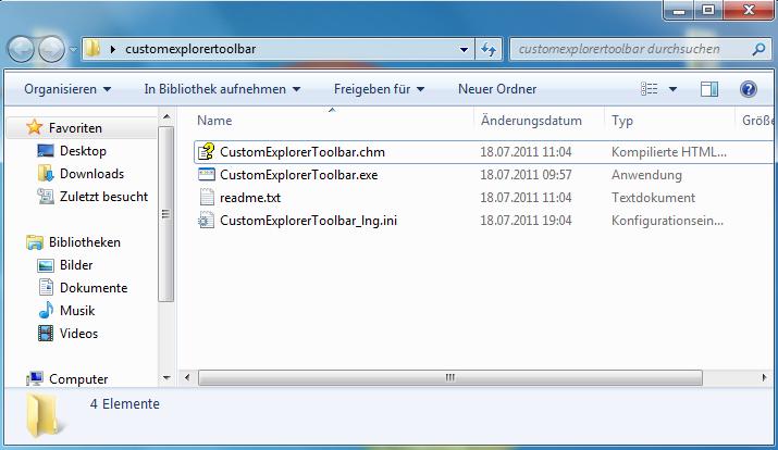 [Update]Der Explorer Toolbar neue Button hinzufügen