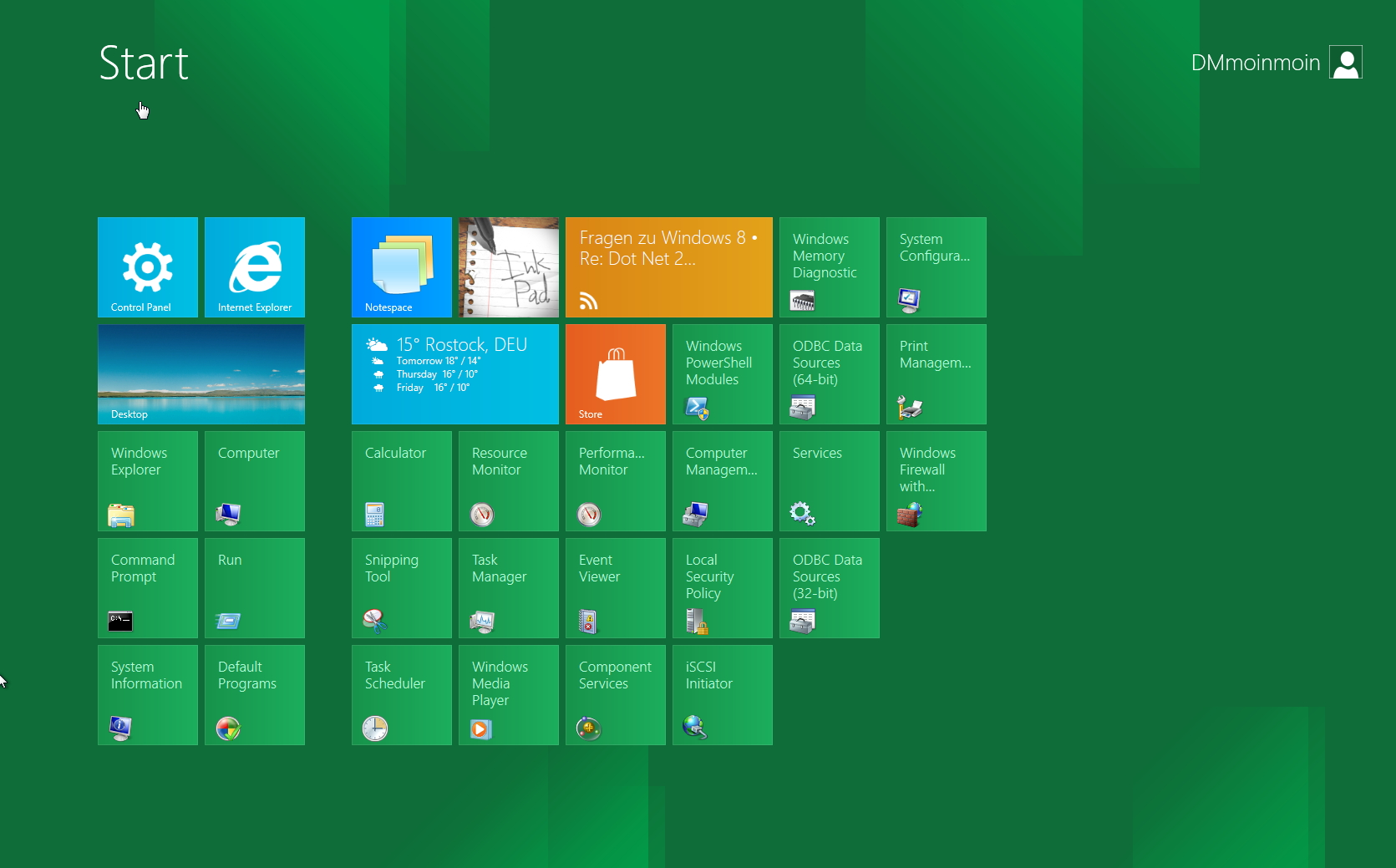 Windows 8 Metro Style ändern