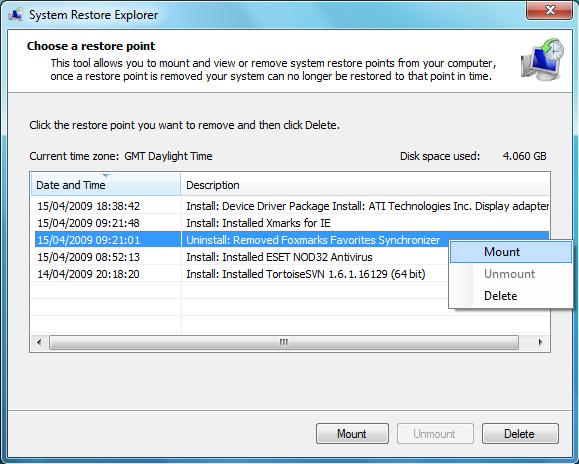 Einzelne Dateien aus einem Wiederherstellungspunkt kopieren