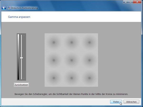 Mit Windows 7 den Bildschirm kalibrieren