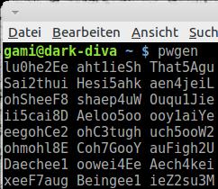 Linux: Sichere Passwörter generieren mit pwgen