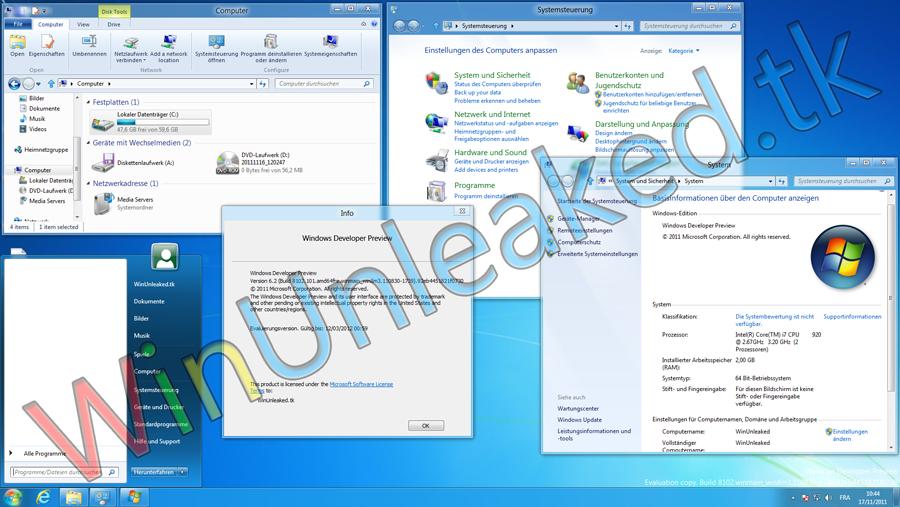 Inoffizielles deutsches Sprachpaket für Windows 8 Dev.