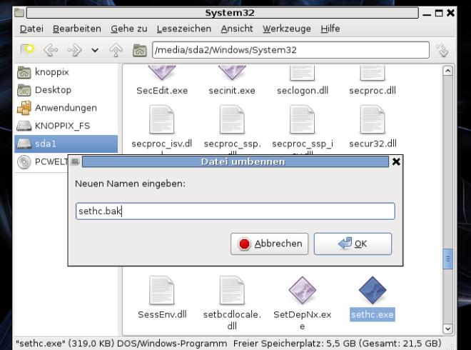 Windows 7 und Vista Passwort knacken