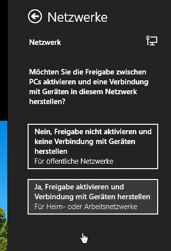 Netzwerkeinstellungen wechseln Windows 8