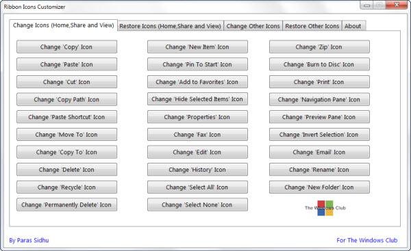 Ribbonicons im Explorer ändern – Windows 8