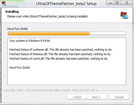 UltraUXThemePatcher Themepatch für Windows 8