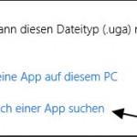 Im Store nach einer App suchen aus dem Kontextmenü entfernen