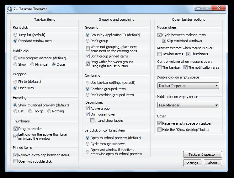 7+ Taskbar Tweaker nun auch für Windows 8