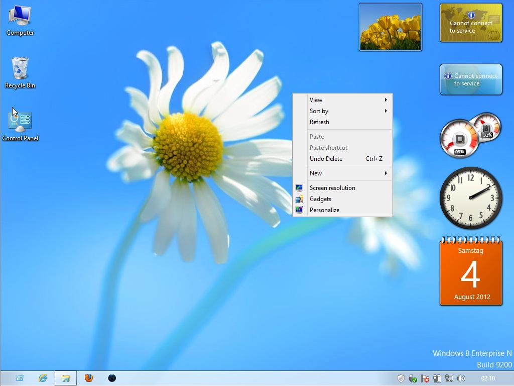 ... unter Windows 8 und Windows 8.1 aktivieren