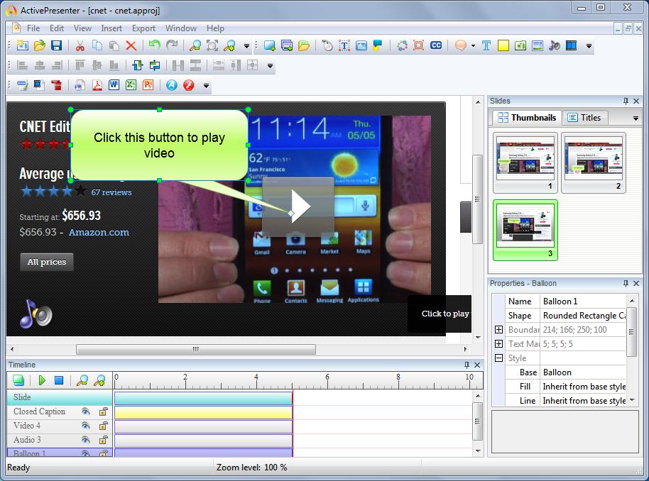 ActivePresenter – Screenshot oder Film mit Ton vom Desktop erstellen