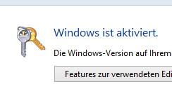 Seriennummern wechseln, ohne neu zu installieren Windows 8
