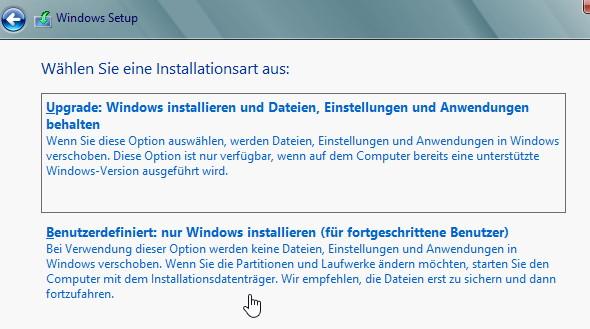 Mit einer Windows 8 Upgrade trotzdem sauber und neu installieren
