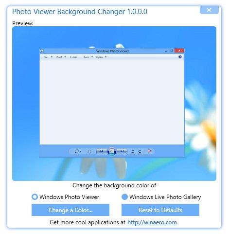 Windows Fotoanzeige – Hintergrundfarbe verändern