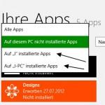 Alte Konten aus dem Windows App Store entfernen