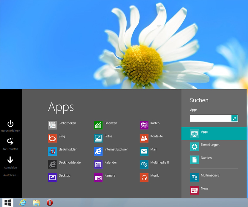 Win8StartButton – Das neue  Startmenü mit Startbutton von quadsoft – Windows 8