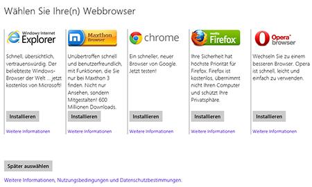 KB976002 bringt die Browserauswahl  als Windows 8 Update