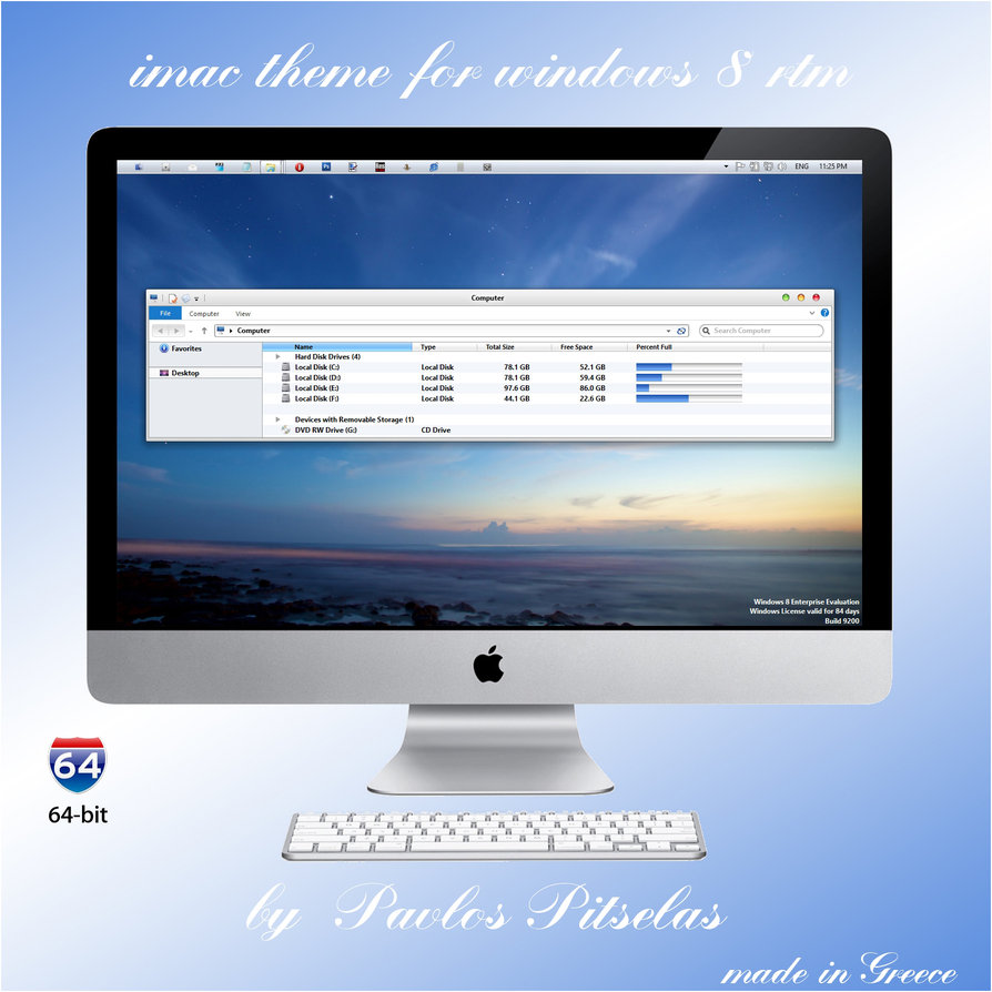 Windows 8 Mac Theme, dlls austauschen, shell32.dll ersetzen – wiederherstellen