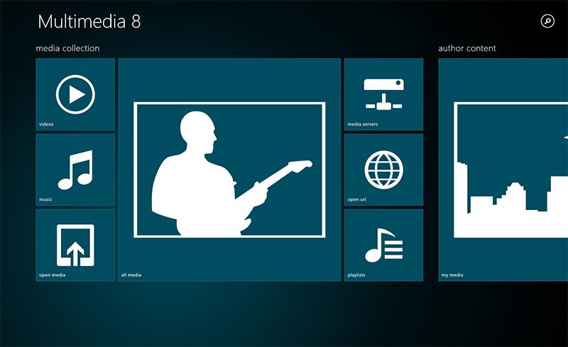 Multimedia 8 – MediaPlayer-App für Windows 8