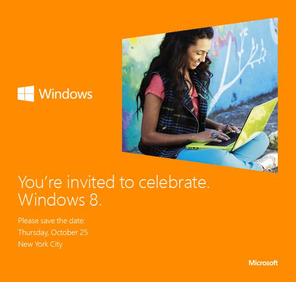 Nun offiziell der 25. Oktober ist der Tag von Windows 8