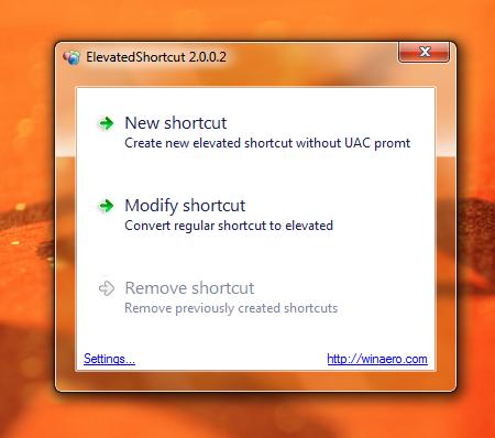 ElevatedShortcut – Programme ohne UAC-Meldung starten