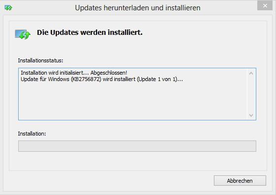 KB2756872 – Ein dickes Update für Windows 8 noch vor dem Release