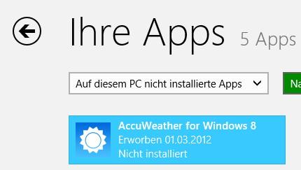 Windows 8 Apps auf einem anderen PC installieren