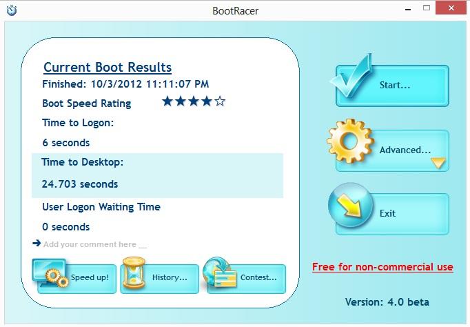 BootRacer – Bootgeschwindigkeit messen nun auch für Windows 8