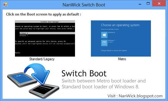 Switch Boot – Zwischen alter und neuer Bootansicht wechseln
