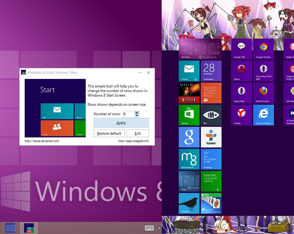 Anzahl der Kacheln -Tiles- mit einem Tool verändern Windows 8