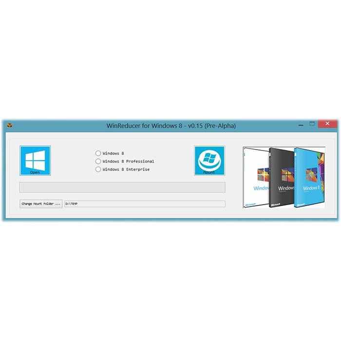 Mit dem WinReducer 8 aus der Windows 8 DVD Komponenten entfernen