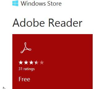 Adobe Reader als App für Windows 8