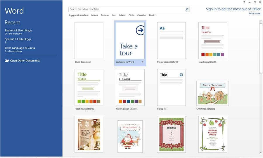 Office 2013 Start Screen deaktivieren