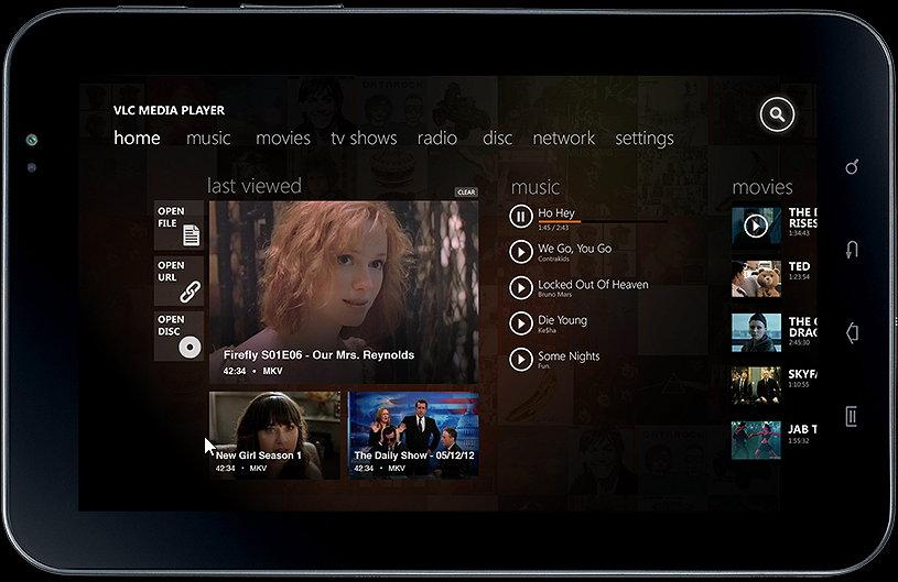 VLC als Windows 8 App: Die ersten Mockups