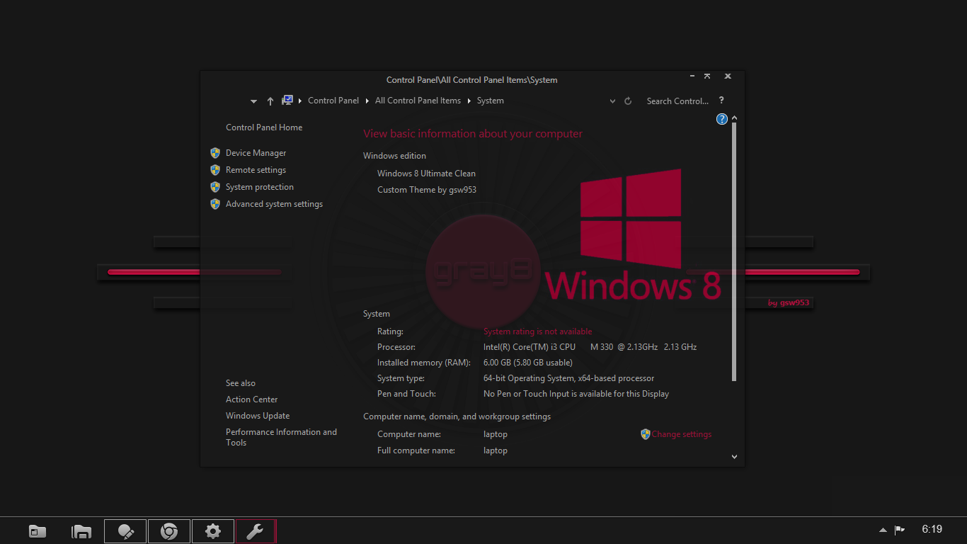 Gray8 Color Pac – Ein transparentes Windows 8 Theme