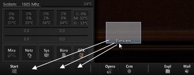 Blank.exe: Leeren Abstand in der Taskleiste oder Dockleiste erstellen