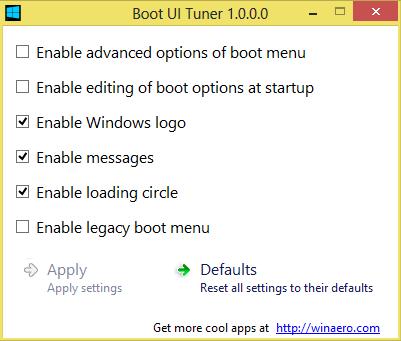 Boot UI Tuner – Das Windows 8 Bootmenü verändern