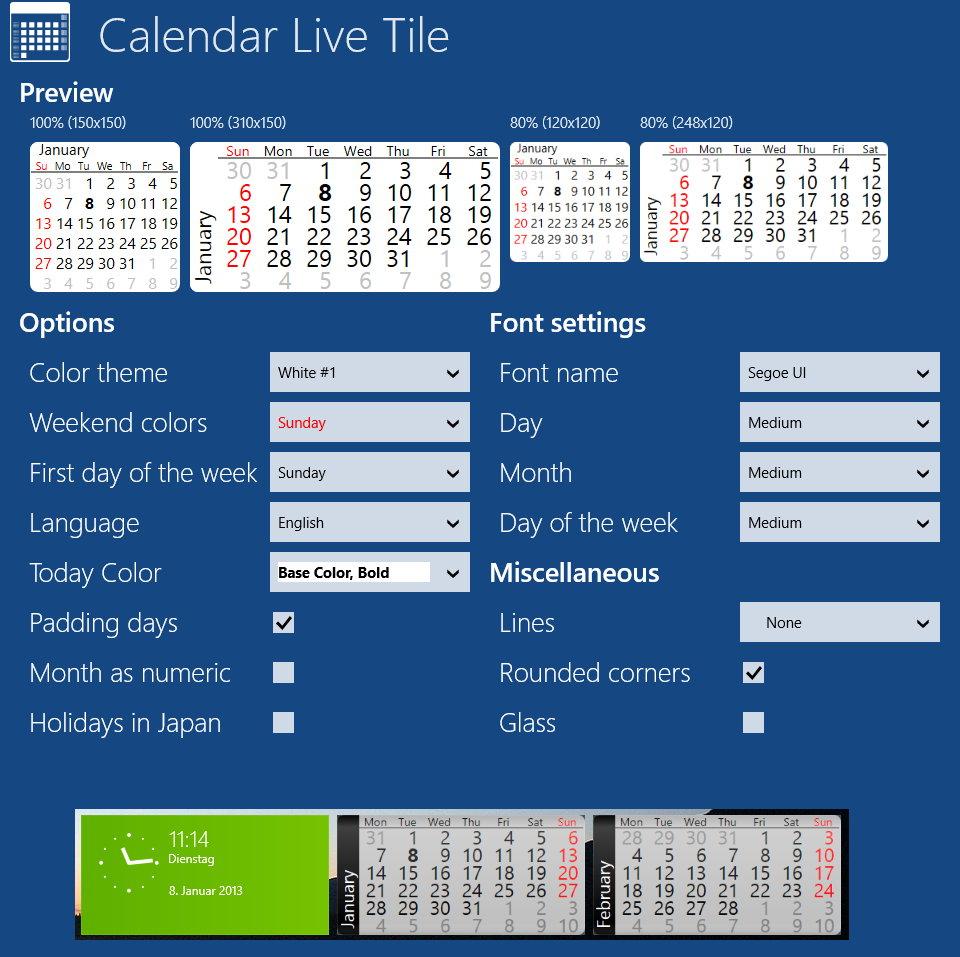 live kalender