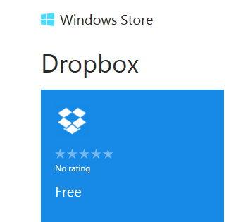 Dropbox nun auch als Windows 8 App im Windows Store