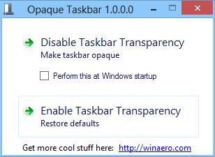 Tranparenz in der Windows 8 Taskleiste entfernen