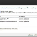 Probleme mit Windows 8 Apps beheben