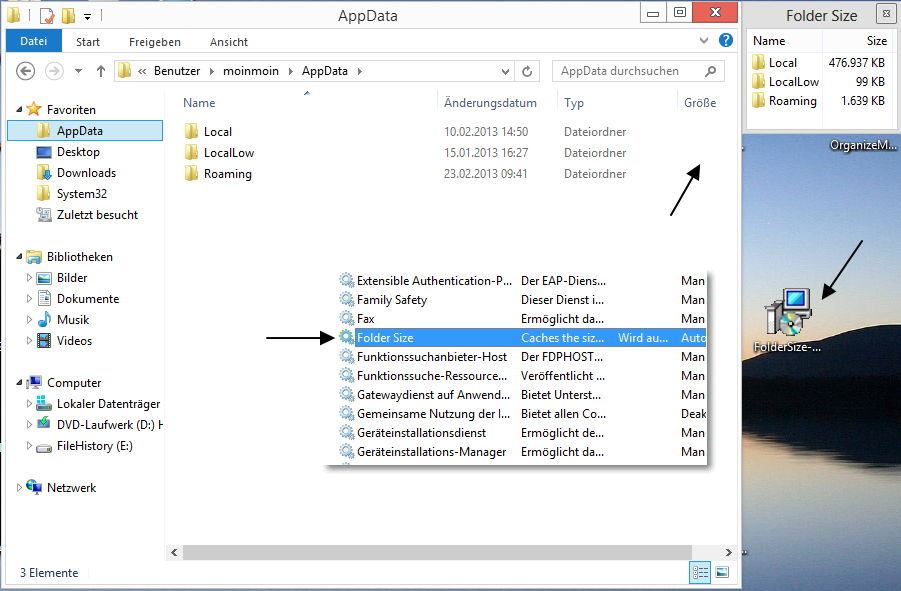 Folder Size for Windows – Ordnergröße im Datei Explorer anzeigen