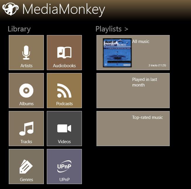 MediaMonkey als Windows 8 App