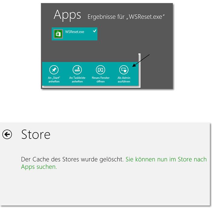 Probleme mit dem Windows App Store?