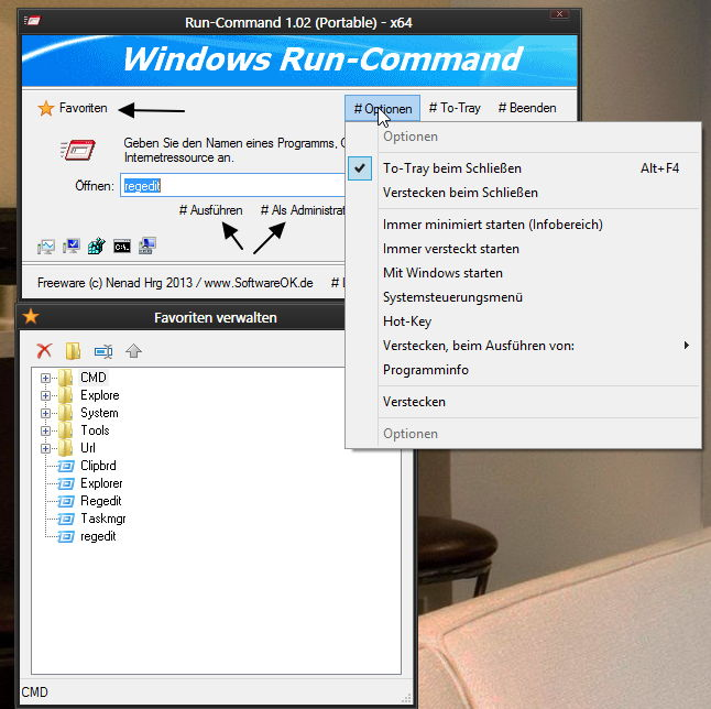 Windows Run-Command Alternative zu Ausführen