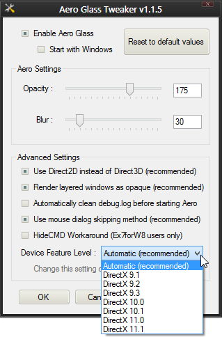 Aero Glass Tweaker 1.1.5 erschienen für Windows 8