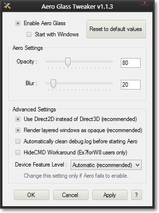 Aero Glass Tweaker 1.1.3 erschienen für Windows 8