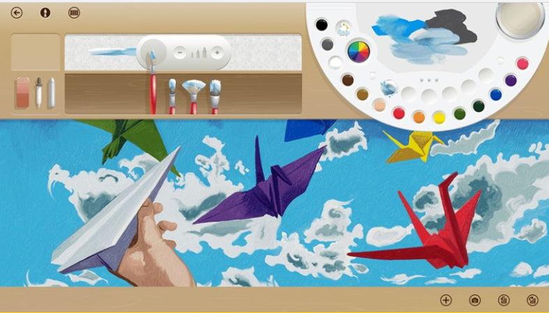 Fresh Paint als App für Windows Blue in einem Video