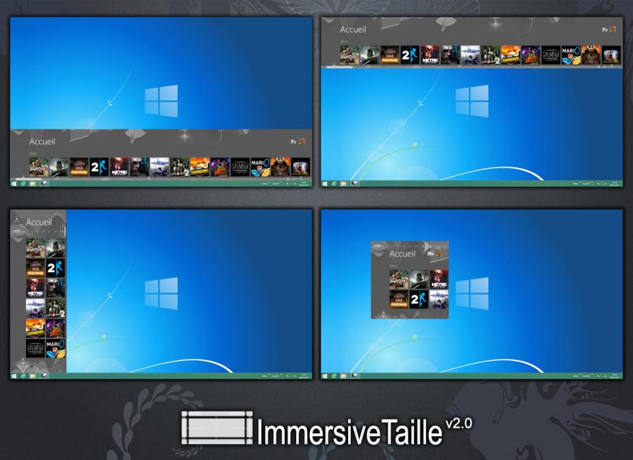 ImmersiveTaille: Das neue Startmenü in den Desktop einbeziehen