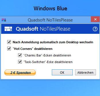 Direkt zum Desktop starten Windows 8.1 (Blue)